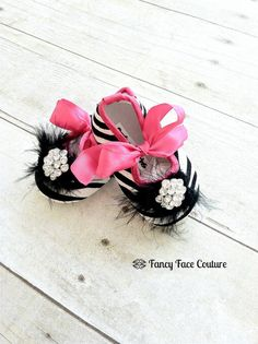 Zebra Baby Girl Shoes Little Girls Crib Shoes .... My sister will have these to go with her fancy diaper cover @jennifermarr