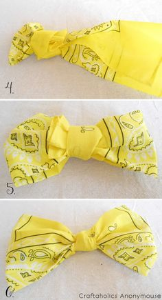 How cute is this for summer??? from: Craftaholics Anonymous® | Bandana Wreath Tutorial