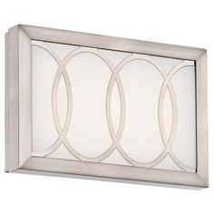 "Minka Celice 9"" Wide LED Etched White Wall Sconce -"