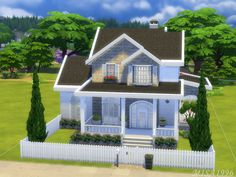This house is for a big sim family. Found in TSR Category 'Sims 4 Residential Lots' Sims 4 House Plans, Sims 4 House Building, Sims 4 Houses Layout, House Layouts, Sims 4 Family House, Tiny Loft, Sims 4 House Design, Casas The Sims 4, Sims 4 Build