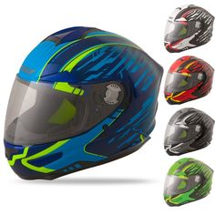 Fly Racing Luxx Shock Mens Street Motorcycle Helmets