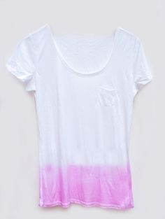 DIY Dip Dye T-Shirt // loving this!