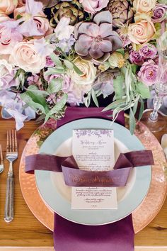 place setting Read More: http://www.stylemepretty.com/2014/08/25/rustic-elegance-wedding-inspiration/
