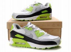 new style a0064 4315c Nike Air Max 90 Fashion Shoes White Green Silver Black Mens 26056 Air Max  90,