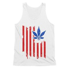 American Weed Tank Top    American Weed Tank Top    420, smoke weed, stoner clothes, hippuy fashion, festival clothes, marijuana shirt, pot leaf, girls who smoke,    This must-have unisex tank is updated with a modern fit, featuring a rounded neck and designed with superior combed and ring-spun cotton. Unisex sizing.    White - 100% combed and ring-spun cotton.  Tri Blend - 50% poly 25% combed and ring-spun cotton and 25% rayon