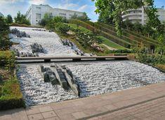 Parc Diderot - Courbevoie, La Defense, France   JML water feature design #landscapearchitecturewater