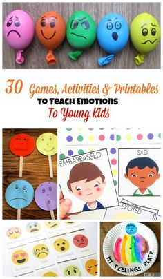 It can be rather tricky to teach kids about emotions. You'll find over 30 printables, activities, and books all about emotions for kids here. These hands-on learning activities will help your child learn about her emotions while playing.
