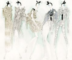 Fashion illustration - edgy elegance, stylish fashion sketches // Myrtle Quillamor