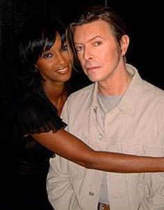 Iman and her (sick with fever) husband David Bowie, Concert for New York City, 2001 Iman Bowie, Iman And David Bowie, Mr And Mrs Jones, David Jones, Sweet Love Story, Classy Couple, Bowie Starman, The Thin White Duke, Thing 1