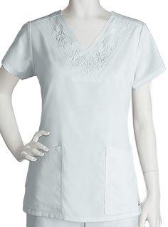 54c0a12269e Greys Anatomy Women's Two Pocket Laser Cut V-Neck Scrub Top Item #:  GR-41394 view details