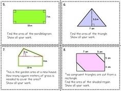 Area of Composite Figures Quiz Quiz Trade and Task Card Activities 20 Questions, This Or That Questions, Composite Shapes, Math Homework Help, Cooperative Learning, Student Engagement, Task Cards, Mathematics, Composition