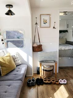 inside a 180-square-foot RV