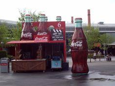 Huge coke bottles at Disney