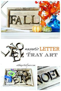 Take Five Five Minute Craft Magnetic Letter Tray Art