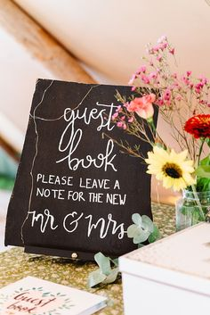 Guest Book DIY Tipi Wedding Fiona Kelly Photography #GuestBook #Wedding