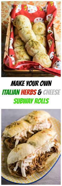 Italian Herbs Cheese Subway Rolls