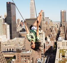 MIA photographed by Ryan McGinley #swing #city