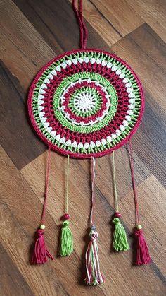 Crochet Mandala Dreamcatcher  - Traumfänger aus einem Häkelmandala