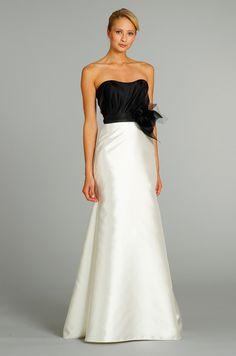 A monochromatic bridesmaid dress by Jim Hjelm, Fall 2012.