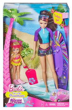 Barbie Sisters Surfing Skipper and Chelsea Doll 2-Pack Life in Dreamhouse NEW