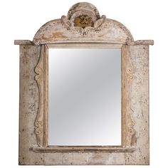 Painted Italian Mirror | From a unique collection of antique and modern wall mirrors at https://www.1stdibs.com/furniture/mirrors/wall-mirrors/