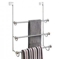 York Metal Over Shower Door Towel Rack $31.99 - a nice touch for the guest bath for all those extra towels #houseguests #fallessentials