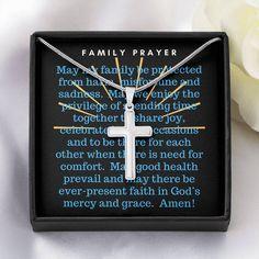 Family Prayer Cross Necklace - Standard Box