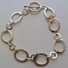 Sterling Silver Wide Link Bracelet 9 Grams by onetime on Etsy, $12.50