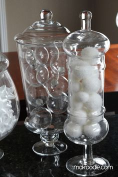 Winter Decorations - Winter Apothecary Jars