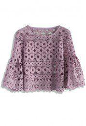 Circle of Love Crochet Top in Purple