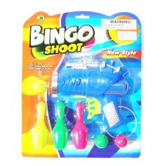 Give your kids lots of fun with this target shooting gun ball and bowling pin set. Shoot the pins using the ball gun or catch the ball being fired. Surely a fun activity for children to play with their friends or family.