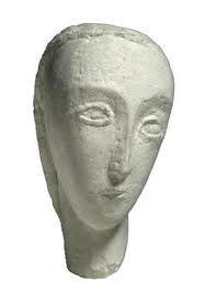 C. Brâncuşi, Testa di Apollinaire, 1909, scultura in pietra