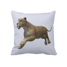 #Lioness Throw #Pillows