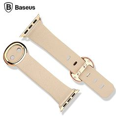 Premium Genuine Leather Band for Apple Watch Sport 38mm (Beige)