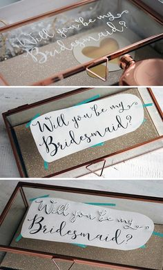 Check out our blog to see how to create your own personalized glass jewelry boxes! http://blog.weddingstar.com/diy-bridesmaid-proposal-box/