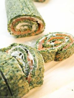 Spinach Salmon Roll- Spinat-Lachs-Rolle Spinach Salmon Roll with Herb Cream Cheese - Pancake Healthy, Best Pancake Recipe, Salmon Recipes, Potato Recipes, Cream Cheese Spinach, Benefits Of Potatoes, Spinach Health Benefits, Salmon Roll, Easy Rolls