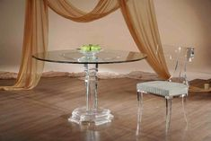 We have beautiful Fantasia Round Dinette. Our Acrylic furniture are very awesome and Classic. Sharooz art provides Dining Tables with adds compliment to your collection.