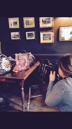 Behind the scenes of @Carpetbags photoshoot at The Ram Inn in Firle! #carpetbag #handcrafted #madeintheUK