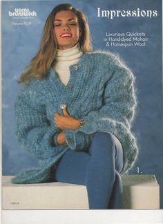 Impressions Luxurious Quicknits in Hand-dyed Mohair & Homespun Wool, Volume 934, VINTAGE 1993 by ApplauseVintageShop on Etsy