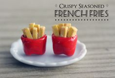 Polymer Clay Miniature Food Jewelry French by MySecretCravings, $10.00 Crispy Seasoned French Fries - who can resist?