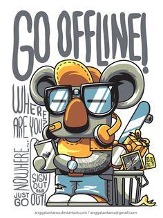 Go Offline by angga tantama, via Behance