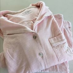 Small lightweight long sleeve VS Pj's Small super soft and lightweight material light pink pajamas. Perfect for spring when you are in between hot and cold. Size small. I just love PJ's but have way too many! Victoria's Secret Intimates & Sleepwear Pajamas