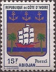1969 Timbre: Coat of Abidjan (Côte d'Ivoire) (Coat Of Arms) Mi:CI 349,Sn:CI 283