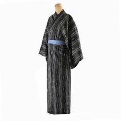 Kimono Robe Yukata Japanese Cotton 100 % Men's Size Ll Black Cotton Machine wash, cold water. LL size 59 inches long, 28inches across from shoulder seam to shoulder seam. 100%cotton for comfort Tie sash included Nice Carp design on a black yukata kimono with belt. Use for after shower , halloween costumes, fathers day gift. Ship from Japan within 3 days, usually take 7-10 days via air mail.