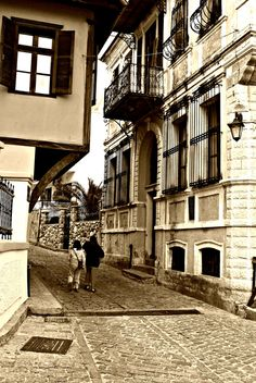 """the """"old town"""" in Xanthi, Greece Places Around The World, Travel Around The World, Around The Worlds, Wonderful Places, Beautiful Places, Winged Victory Of Samothrace, Beach Scenery, Into The West, Adventure Is Out There"""
