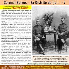 IJUÍ - RS - Memória Virtual: Um dos primeiros nomes do ex-Distrito e hoje cidad...
