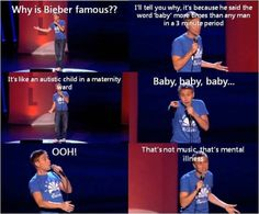 Russell Howard on Justin Bieber everytime I laugh too hard just every time