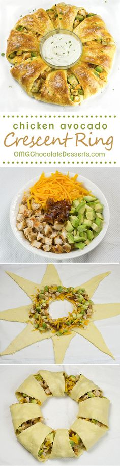 If you love simple and easy 5 minutes crescent roll recipes you must try this Chicken Avocado Crescent Ring. Healthy and delicious!!!