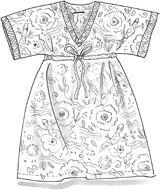 """Salamander"" eco-cotton dress – Bad i kvällssolen – GUDRUN SJÖDÉN – Webshop, mail order and boutiques | Colorful clothes and home textiles i..."