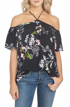 1.STATE Floral Print Blouse